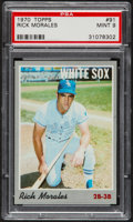 Baseball Cards:Singles (1970-Now), 1970 Topps Rick Morales #91 PSA Mint 9....