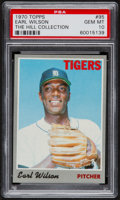 Baseball Cards:Singles (1970-Now), 1970 Topps Earl Wilson #95 PSA Gem Mint 10 - Pop One....