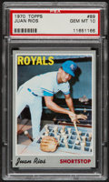 Baseball Cards:Singles (1970-Now), 1970 Topps Juan Rios #89 PSA Gem Mint 10 - Pop Three....