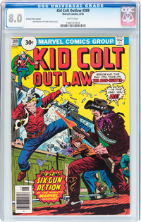 Kid Colt Outlaw #209 - 30¢ Price Variant (Atlas/Marvel, 1976) CGC VF 8.0 White pages