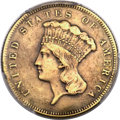 Three Dollar Gold Pieces, 1873 $3 Closed 3 -- Repaired -- PCGS Genuine. XF Details....