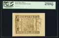 Colonial Notes:Rhode Island, Rhode Island May 1786 1s PCGS Superb Gem New 67PPQ.. ...
