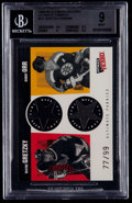 Hockey Cards:Singles (1970-Now), 1999 Ultimate Victory Legendary Ultimate Fabrics Gretzky/Orr #UF BGS Mint 9....