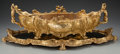 Decorative Arts, French:Other , A French Gilt Bronze Figural Centerpiece and Mirrored Plateau, 19thcentury. 8-1/2 inches high x 30 inches wide (21.6 x 76.2...