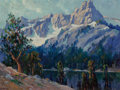 Fine Art - Painting, American, Lee Hayes (American, 1854-1946). Lake Louise in Banff. Oilon canvasboard. 12 x 16 inches (30.5 x 40.6 cm). Signed lower...