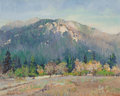 Fine Art - Painting, American, Nell Gertrude Walker Warner (American, 1891-1970). MountainView. Oil on board. 11-3/4 x 14-3/4 inches (29.8 x 37.5 cm)...