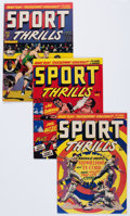Golden Age (1938-1955):Miscellaneous, Sport Thrills #11-13 Group (Star Publications, 1950-51) Condition: Average VG+.... (Total: 4 Comic Books)