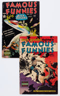 Golden Age (1938-1955):Miscellaneous, Famous Funnies #212 and 216 Group (Eastern Color, 1954-55).... (Total: 2 Comic Books)