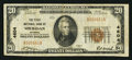 National Bank Notes:Wyoming, Sheridan, WY - $20 1929 Ty. 1 The First NB Ch. # 4604. ...