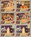 "Movie Posters:Adventure, Custer's Last Stand (Stage and Screen Productions, 1936). LobbyCards (6) (11"" X 14""). Adventure.. ... (Total: 6 Items)"