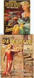 "Books:Periodicals, [Illustrated Periodicals]. Pair of ""Detective"" Magazines. May 1936- June 1952. ... (Total: 2 Items)"