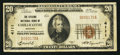 National Bank Notes:Missouri, Chillicothe, MO - $20 1929 Ty. 1 The Citizens NB Ch. # 4111. ...
