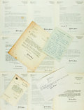 Autographs:Authors, [Francis Watson, author/theologian]. Collection of Francis Watson Correspondence. ...