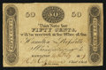 Obsoletes By State:Ohio, Hamilton, OH- Hamilton & Rossville Manufacturing Co. 50¢ Feb.14, 1819 Wolka 1245-04. ...