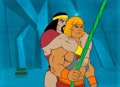 Animation Art:Production Cel, He-Man and the Masters of the Universe He-Man and ChiefMerlo Production Cel (Filmation, 1983).... (Total: 2 Items)
