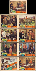 """Movie Posters:Western, Rebellion (Crescent Pictures, 1936). Lobby Card Set of 8 + 1 (11"""" X 14""""). Western.. ... (Total: 9 Items)"""