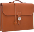 Luxury Accessories:Bags, Hermes 40cm Etrusque Chevre Leather Sac a Depeches Single GussetBriefcase Bag with Palladium Hardware. Good Condition. ...