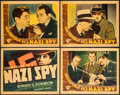 "Movie Posters:Drama, Confessions of a Nazi Spy (Warner Brothers, 1939). Title Lobby Card& Lobby Cards (3) (11"" X 14""). Drama.. ... (Total: 4 Items)"