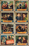 "Movie Posters:Crime, Code of the Streets (Universal, 1939). Lobby Card Set of 8 (11"" X14""). Crime.. ... (Total: 8 Items)"