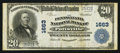 National Bank Notes:Pennsylvania, Pottsville, PA - $20 1902 Plain Back Fr. 652 The Pennsylvania NB Ch. # 1663. ...