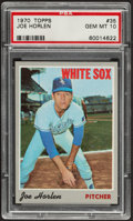 Baseball Cards:Singles (1970-Now), 1970 Topps Joe Horlen #35 PSA Gem Mint 10....