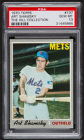 Baseball Cards:Singles (1970-Now), 1970 Topps Art Shamsky #137 PSA Gem Mint 10 - Pop One....