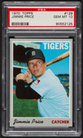 Baseball Cards:Singles (1970-Now), 1970 Topps Jimmie Price #129 PSA Gem Mint 10 - Pop Three....