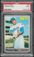 Baseball Cards:Singles (1970-Now), 1970 Topps Tommie Agee #50 PSA Mint 9....