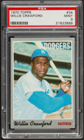 Baseball Cards:Singles (1970-Now), 1970 Topps Willie Crawford #34 PSA Mint 9....