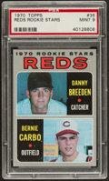 Baseball Cards:Singles (1970-Now), 1970 Topps Reds Rookies #36 PSA Mint 9....