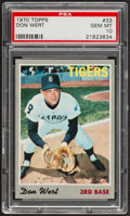 Baseball Cards:Singles (1970-Now), 1970 Topps Don Wert #33 PSA Gem Mint 10....