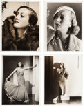 Movie/TV Memorabilia:Photos, A Joan Crawford Group of Black and White Photographs by ClarenceSinclair Bull, 1930s....