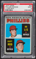 Baseball Cards:Singles (1970-Now), 1970 Topps Phillies Rookies #56 PSA Mint 9....