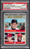 Baseball Cards:Singles (1970-Now), 1970 Topps NL Era Leaders #67 PSA Mint 9....