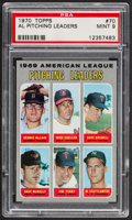 Baseball Cards:Singles (1970-Now), 1970 Topps AL Pitching Leaders #70 PSA Mint 9....