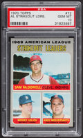 Baseball Cards:Singles (1970-Now), 1970 Topps AL Strikeout Leaders #72 PSA Gem Mint 10 - Pop Two....