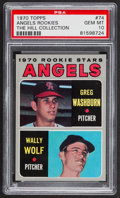 Baseball Cards:Singles (1970-Now), 1970 Topps Angels Rookies #74 PSA Gem Mint 10 - Pop One....