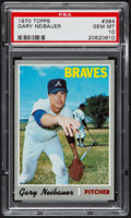 Baseball Cards:Singles (1970-Now), 1970 Topps Gary Neibauer #384 PSA Gem Mint 10 - Pop Four....