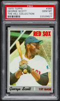 Baseball Cards:Singles (1970-Now), 1970 Topps George Scott #385 PSA Gem Mint 10 - Pop Two....