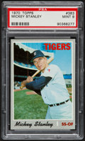 Baseball Cards:Singles (1970-Now), 1970 Topps Mickey Stanley #383 PSA Mint 9....