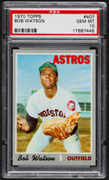 Baseball Cards:Singles (1970-Now), 1970 Topps Bob Watson #407 PSA Gem Mint 10 - Pop Two....