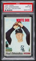 Baseball Cards:Singles (1970-Now), 1970 Topps Paul Edmondson #414 PSA Gem Mint 10 - Pop One....