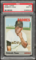 Baseball Cards:Singles (1970-Now), 1970 Topps Roberto Pena #44 PSA Mint 9....