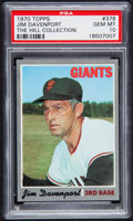 Baseball Cards:Singles (1970-Now), 1970 Topps Jim Davenport #378 PSA Gem Mint 10 - Pop One....