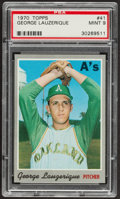 Baseball Cards:Singles (1970-Now), 1970 Topps George Lauzerique #41 PSA Mint 9....