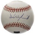 Autographs:Baseballs, Dave Winfield Single Signed Baseball. The amazing physical specimenthat is Dave Winfield intimidated opposing hitters with...
