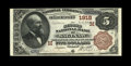 National Bank Notes:Michigan, Saginaw, MI - $5 1882 Brown Back Fr. 472 The Second NB Ch. # (M)1918. A very high grade $5 Brown Back which comes from a...