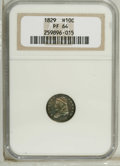 Proof Bust Half Dimes: , 1829 H10C PR64 NGC. V-12, LM-13, R.7 as a proof. NGC has certified10 proof 1829 half dimes, none with an indication of Val...