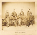 """Military & Patriotic:Civil War, Brady Imperial Albumen Photograph, """"Sherman and his Generals"""", framed to 24"""" x 23.75"""" overall. The irascible William Tecumse..."""