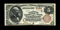 National Bank Notes:West Virginia, Wheeling, WV - $5 1882 Brown Back Fr. 477 The National Exchange Bank Ch. # (S)5164. A crisp, bright and crackling fresh ...